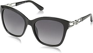 GUESS Unisex's GU7536 05B 55 Sunglasses, Nero, Size 135 mm