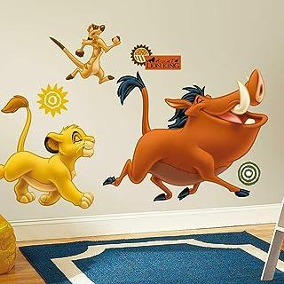 RoomMates RMK1922GM-Pegatinas, diseño Pegatinas de Pared Simba, Timón y Pumba Gigante