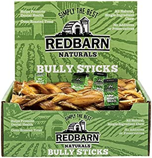 Redbarn Premium Pet Products Braided Bully 9 Inch Pack Of 35 - 229001