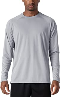 KEFITEVD Men's UPF 50+ Long Sleeve T Shirt UV Protection Shirts Outdoor Sun Protect Tops