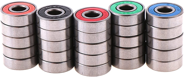 HHKHFA 5pcs 608 2RS Inline Roller Skate Wheel Bearing Anti-Rust