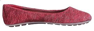 حذاء باليرينا جلد صناعي مكشكش بطرف دائري للنساء من كلوب الدو 41