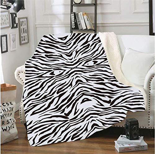 Manta suave Zebra Leopard 3D Impreso Sherpa Manta Sofá Edredón Funda de viaje Ropa de cama Manta de felpa Manta Colcha 150 * 200Cm