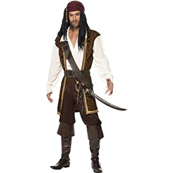 NET TOYS Disfraz de Hombre Pirata corsario Traje: Amazon.es ...