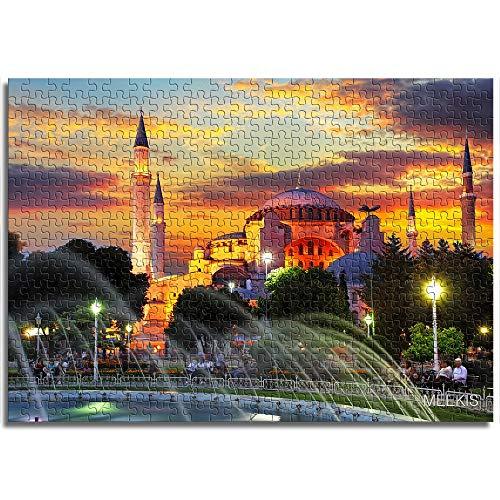 CELLYONE Puzzles für Erwachsene 1000 Stück Lebendige türkische Moschee Lernspiele, Puzzle für Kinder