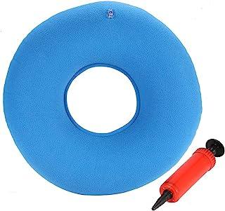 01 Almohada para aliviar el Dolor con Forma de rosquilla, Oficina en el hogar, Espuma viscoelástica, para hemorroides, cojín de Anillo Redondo súper cómodo(Blue)