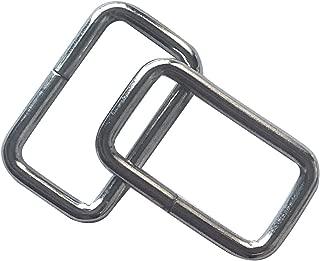 50 Pcs 1 inch Metal Rectangle Buckle Ring - Metal Bag Purse Snap Hook - 25mm Rectangle Rings Webbing Belts Buckle,Q2309