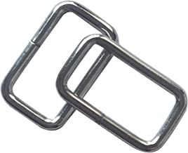 50 Pcs 1 inch Metal Rectangle Buckle Ring - Metal Bag Purse Snap Hook 25mm Rectangle Rings Webbing Belts Buckle,Q2309