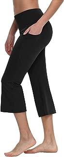 "BALEAF Women's 21""/23""/25"" Yoga Capri Pants Flare Workout Bootleg Crop Leggings"