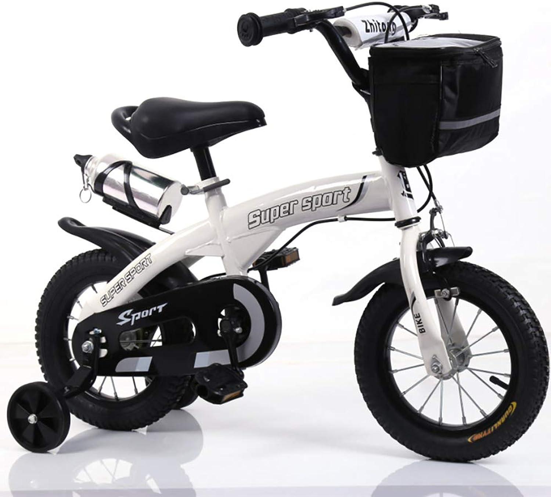 """venta caliente en línea FJ-MC Bicicleta de Niños 12 , , , 14 , 16 , 18 , para Niños y niñas, V-Freno y Freno Trasero, con estabilizadores y Cesta, para Niños de 4 a 12 años,blanco,12""""  ventas en linea"""