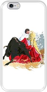 Hapdey Funda Transparente para [ iPhone 6 6S ] diseño [ Lucha de toros, España ] Carcasa Silicona Flexible TPU