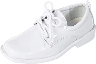 Boys Patent Leather Formal Derby Oxford Dress Shoes