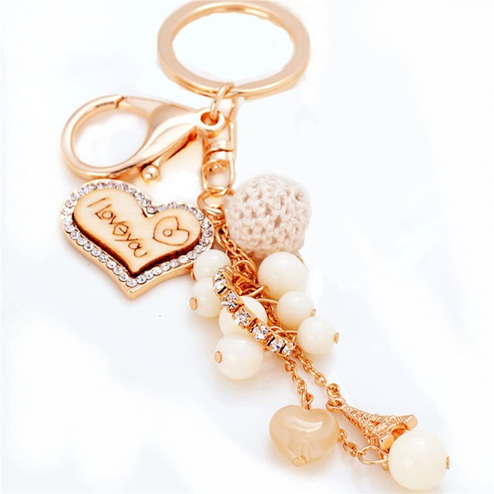 Cute Keychain Emgraved I Love You Keychain Key Ring Lover Sweetheart Gift for Valentine's Day/Wedding Anniversary/Birthday Purse Charm