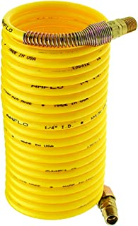 0.312 Coil OD 0.25 Coil ID Plastair Industrial SBHB4100-5-U Copolymer Snapback Recoil Air Hose 250 PSI Maximum Pressure 100 Length
