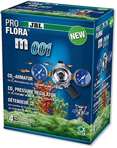 JBL ProFlora m001 64464 Armatur zur Druckminderung von CO2-Mehrwegflaschen für Aquarien