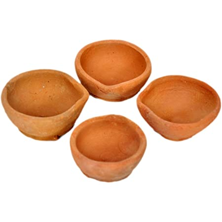 Oil Lamps 10 Diwali Mitti Diya Indian Handmade Terracotta Clay wesak pahan pooja