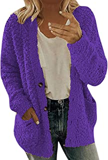 MOTOCO Women Sweater Cardigan Solid Color Long Sleeve Button Knitting Loose Plus Size HoodiesTop