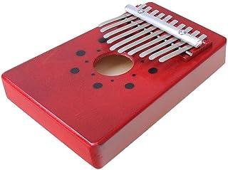 Luvay Kalimba Thumb Piano Mbira, Finger Piano African Instrument (10keys-Red)