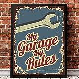 Vintage car service logo carteles e impresiones garaje retro wall art lienzo pintura cuadros clásicos decoración para el hogar 50x70cmx1pcs sin marco