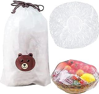 Sacs de conservation frais 100 pièces, sacs de conservation frais à mettre sur des assiettes et des bols, sacs de conserva...