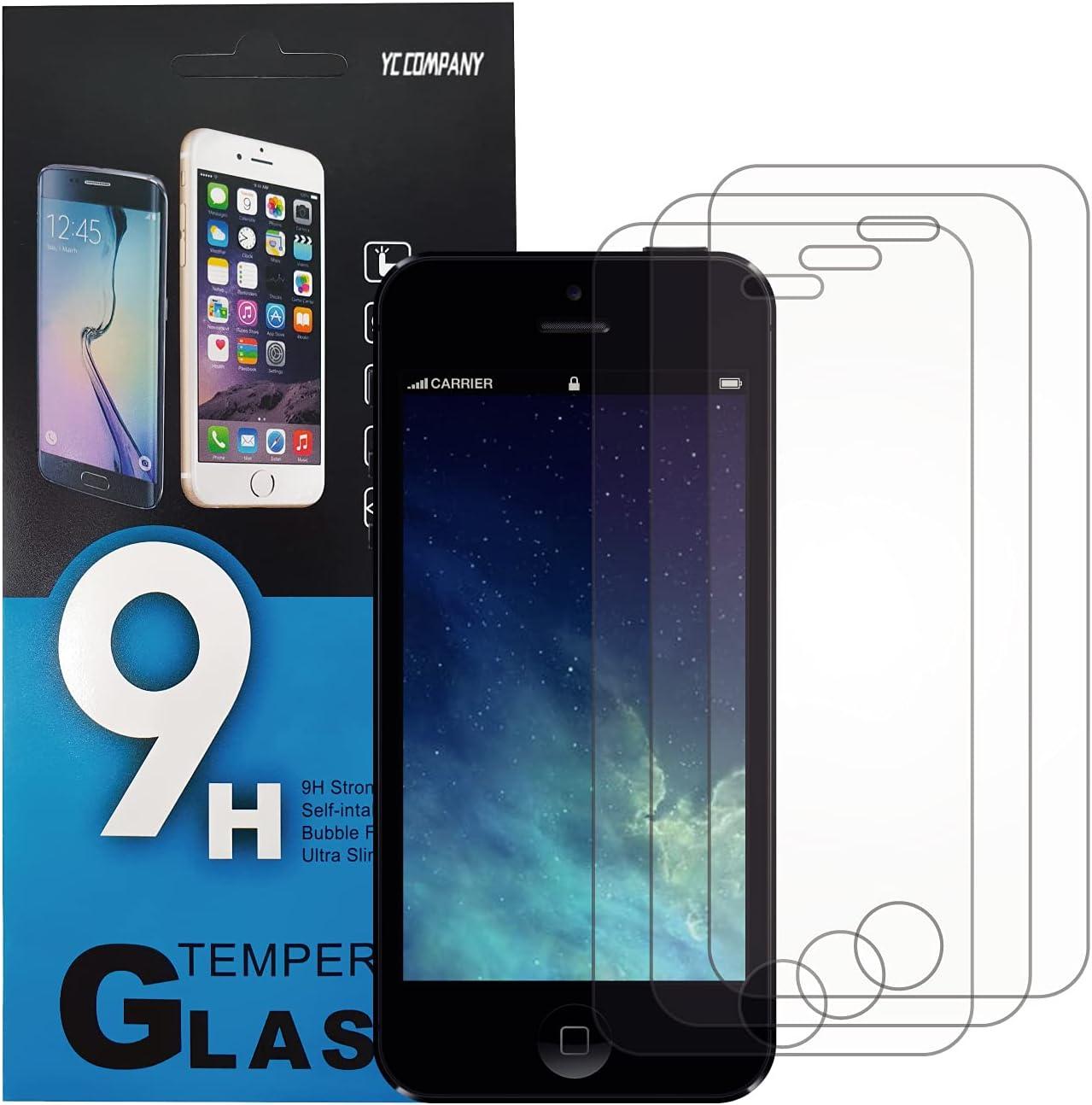 YC COMPANY - Lot de 3, Verre Trempé Compatible avec iPhone XR/iPhone 11. Film Protection Écran Anti Rayures Ultra Résistant (0,33mm HD Transparent)...