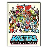 Forry Masters of The Universe Metall Poster Retro