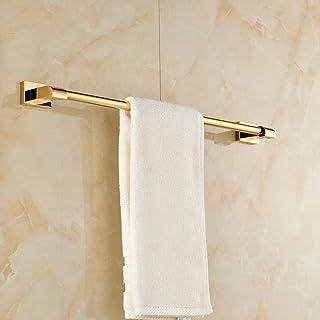 vertice バスルームアクセサリー タオルホルダー タオルバー タオルラック タオル棚 ヨーロピアン銅タオルラック シングルポール パンチフリー