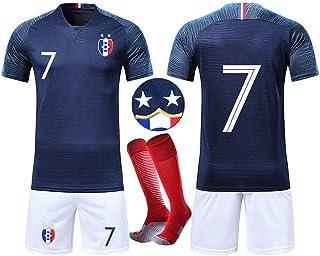 41b7108f135d5 OUJD Ensembles de Sport Maillot de Football Enfant Coupe du Monde Maillot  Football France 2 étoiles