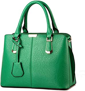 MLpus Women's Handbag Leather Handbag American Style Fashion Shoulder Bag Ladies Simple Versatile Messenger Bag (Color : Green)