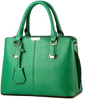 MLpus Women's Handbag Leather Handbag American Style Fashion Shoulder Bag Ladies Simple Versatile Messenger Bag (Color : Green)