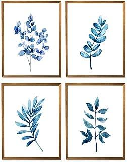 blue botanical print