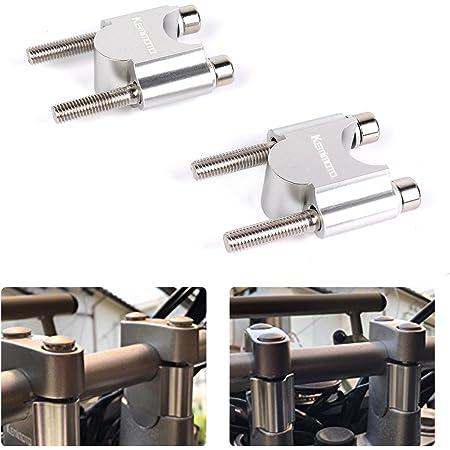 kemimoto ハンドルポスト 30mmアップ ハンドルスペーサー 7/8インチ φ22mm/22.2mmバー汎用 ハンドルバー ライザー スタンダード CNC加工 シルバー