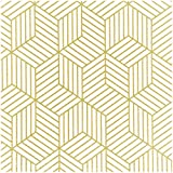 Blooming Wall Peel and Stick Geometry Stripped Hexagon Wallpaper Gold Stripes Wallpaper Luxury Contact Paper Removable Wall Decor Vinyl Self Adhesive Contact Paper Decorative