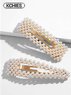 d6c9b5e3d KCHIES Pearls Hair Clips for Women Gold Hair Barrettes Pins for Girls  Decorative Hair Accessories for