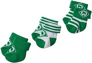Unbekannt 3er Set Baby- SOCKEN ERSTLINGSSÖCKCHEN SV Werder Bremen