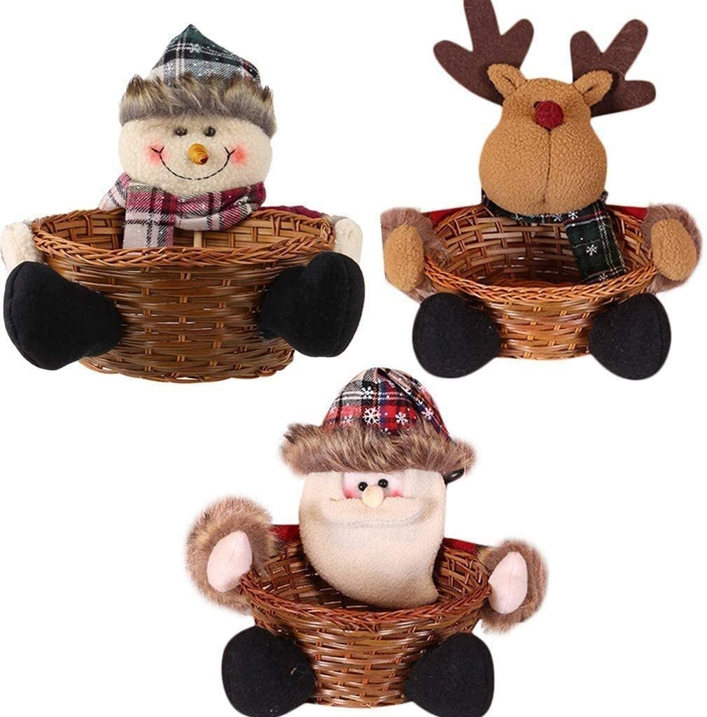 MGE Christmas Candy Basket 5 popular Santa Claus lowest price Storage Gift Table