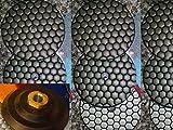 "60 Pieces Premium Quality 5 inch 125mm 5"" DRY Diamond Terrazzo Granite Polishing Pads 5/8""-11 Thread Back Marble Onyx Concrete Travertine Stone Glass Marble KENT"