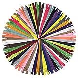 YaHoGa 40 cm 60 piezas Cremalleras de Colores 20 Colores Mixtos Cremalleras de Nylon para DIY Costura Manualidades Bolsas Chaquetas (40 cm 60 piezas)