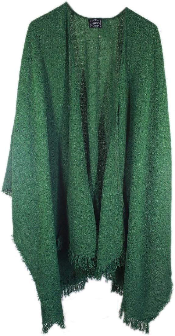 Wrap, Ruana Wraps for Women, Wool Shawl, Irish Gifts for Her, Biddy Murphy, Made in Ireland, 85% Lambswool, 54