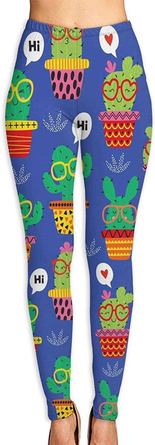 JJCSTE.C Funny Llama and Cacti Yoga Challenge the lowest price Gorgeous Pa Athletic Leggings Women's