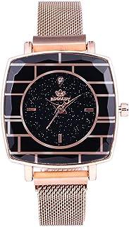 Mangjiu ?? 腕時計 親戚お友達恋人へ贈る レディース 腕時計 女性用 ウィメンズスクエアクォーツファッションウォッチ防水識別
