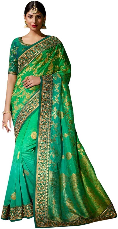 Ethnic women wear Navratri Special Designer Sari Saree Gotapatti Border Festive 7202 4