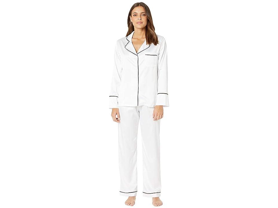 Coobie Undie Couture by Coobie Satin Pajama Set (White) Women
