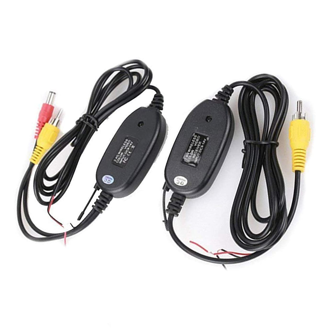 DEALPEAK Car 2.4G Wireless Color Video Transmitter and Receiver for The Vehicle Backup Rearview Camera Front Car Camera