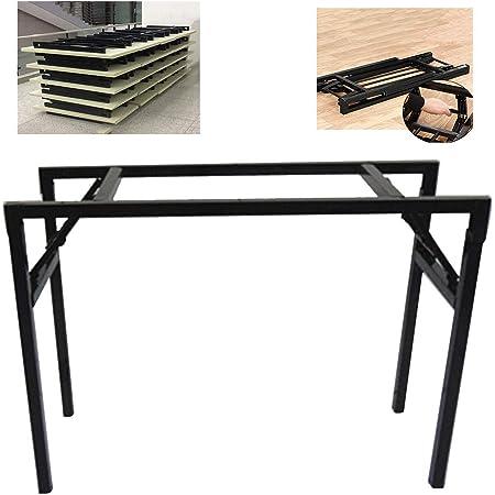 DGXQ Pieds de Table pliants/Étagère de Bureau/Simple Pieds de Support de Table de conférence/Noir, Simple Couche, Double Couche, 78cm * 38cm * 73cm