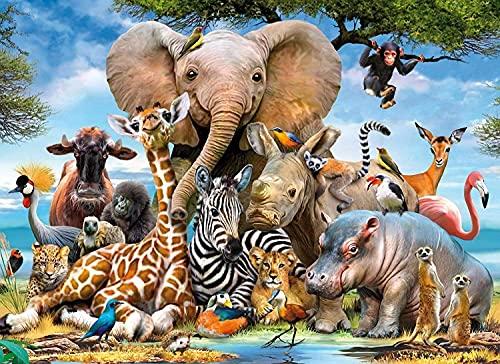 Cuadros Para Pintar Por Numeros Animales cuadros para pintar por numeros  Marca SANYOCZH
