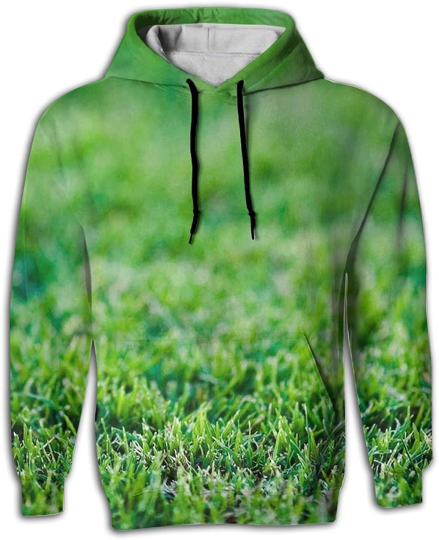 Baseball On Fake Green Grass Man Fashion Hoodie Sweatshirts Hooded Sweater With Pocket 3D Print