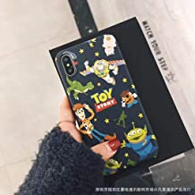 Cartoon Space Trieye Hudi mobile phone case for Apple x/8plus/iphone 6Splus 7p set of silica gel(Black Edge-Black Space Toy Story, MAX)
