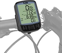 WERPOWER Cuentakilómetros de Bicicleta, Bici Velocímetro de Bicicleta de múltiples Funciones Computadora para Bicicleta Ciclocomputadores Odómetro Podómetro