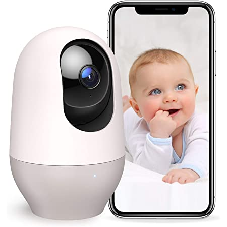 Nooie Baby Monitor WiFi Dog Pet Camera Indoor,360-degree Wireless IP Camera,1080P Home Security Camera,Motion Tracking,Night Vision,Works with Alexa